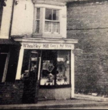 Pet shop in Wheatley Hill, County Durham. Davey Green's Wheatley Hill Pet and Corn original shop.